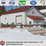 門脈フレームの鉄骨構造の構築の小屋