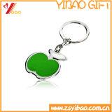 Kundenspezifischer Metalldecklack-Kleber-Zink-Legierungs-Schlüsselketten-Schlüsselring mit Keyholder für des Fahrzeughalters (YB-KC-KR-04)