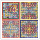 L'impression numérique personnalisé 100 % foulards de soie (F13-0038)