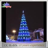 Modificar el árbol de navidad al aire libre gigante los 50FT grande de los 20FT para requisitos particulares los 30FT los 40FT con la bola del LED para el centro comercial