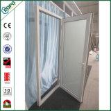 PVC de doble acristalamiento Sola Hoja abertura exterior de tres puertas de cristal