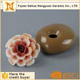 Jarra de pedra de aroma vaso de perfume de cerâmica com tampa de flores