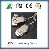 Серебра металла логоса диска памяти привод пер USB свободно внезапный