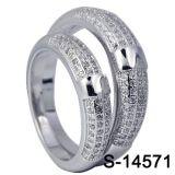 Juwelen 925 van de manier de Zilveren Levering voor doorverkoop van de Fabriek van de Ring van het Paar