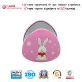 De Doos van het Tin van de Harten van het konijn voor Koekjes/Koekjes/Suikergoed/Chocolade/Gift (T001-V15)