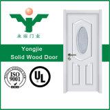 Porte en bois intérieure découpée élégante en bois solide