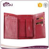 Типа краткости бумажника кожи крокодиловой кожи бумажника женщин изготовления Fani повелительница Портмоне красного складывая