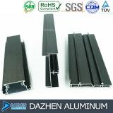 Profil T5 en aluminium personnalisé de l'extrusion 6063 de qualité pour le cadre de tissu pour rideaux de guichet