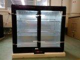210L de dubbele Koeler van de Vertoning van het Bier Abr van de Deur van het Glas Achter met Europese Stijl