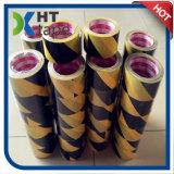 Nastro adesivo del PVC di colore nero e giallo