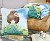 多機能の綿のリネンクッションのソファーの投球枕毛布の屋外毛布
