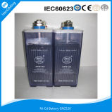 Acumulador alcalino recargable Ni-CD Gnz120 con 1.2V120ah para UPS, potencia de reserva