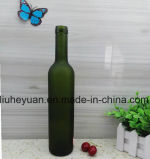 500ml緑の曇らされたガラスの赤ワインのびん