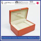 Caixa de relógio luxuosa nova do couro genuíno de caixas de presente do caso de indicador da caixa de relógio com o relógio do descanso que empacota para homens