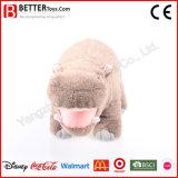Jouets bourrés mous réalistes d'hippopotame de peluche de la Chine Aniaml