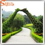 최신 판매 정원 훈장 동물성 모양 플랜트 인공적인 회양목 장식 정원 잔디