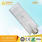 Réverbère solaire Integrated de la batterie lithium-ion DEL 25W