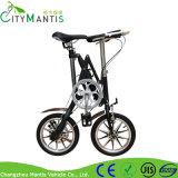 E-Велосипед миниого типа черноты рамки алюминиевого сплава складывая