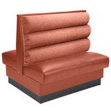 Cabina seccional del sofá del restaurante de la barra de la cafetería (HD375)