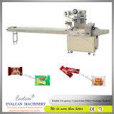 Machine à emballer horizontale de gâteau de flux d'EV