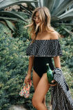 Сборки женщин Swimsuits способа оптовых продаж с плеча один Swimwear части