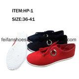 Подгонянные ботинки ботинок холстины впрыски женщин Hotsell вскользь (FFCS1219-02)