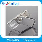 Mini-Metal USB3.0 flash da memória pendrive USB Giratório Crystal levou cartão USB