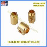 Parafuso prisioneiro de cobre do cobre da peça da precisão (HS-CS-008)
