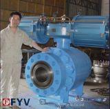 Válvula de esfera de flange de 2PCS montada em trunhão