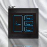 Bâti acrylique de commutateur de contact d'éclairage de 4 troupes (SK-LT100L4)