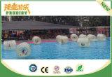 Máquina de juego inflable transparente del deporte de agua de la montaña rusa