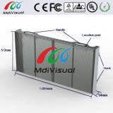 Afficheur LED de verre transparent d'intérieur pour la publicité