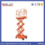 la altura los 3.9m de elevación máxima 300kg mini Scissor el tipo plataforma de trabajo