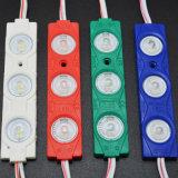 Módulo impermeável do diodo emissor de luz da cor verde 3SMD5630 12V 1.5W do módulo da injeção do diodo emissor de luz