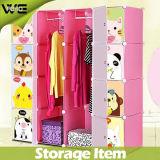 O plástico de venda quente do organizador do armário caçoa Wardrobes do quarto