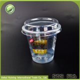 200mlロゴおよびふたが付いている使い捨て可能なプラスチックアイスクリームのコップ