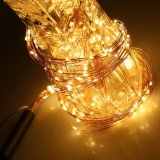 240 LED del partido caliente, Blanco, Rama Cadena estrellada Hada de luz flexible alambre de plata de Navidad