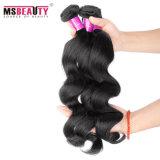 Trama barata do cabelo da onda do Virgin da extensão do cabelo humano de Msbeauty