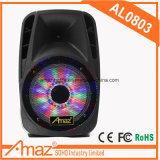 Haut-parleur professionnel de prix usine avec l'éclairage LED