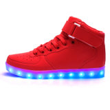 Unisex Rechargeable Deep Top LED intermitente acende os sapatos com carregador USB