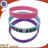 Wristband promocional del silicio de la manera de la pulsera del silicio de la alta calidad de la pulsera del deporte del regalo