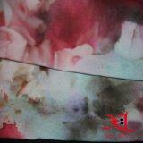 Tecido de chiffon de seda com creme 3D Digital para vestido de mulher