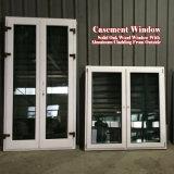 Finestra di alluminio di inclinazione e di girata di legno solido di standard europeo
