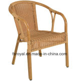 의자 옥외 대중음식점 가구를 식사하는 알루미늄 프레임 고리 버들 세공 대나무 보기