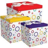 """Gemakkelijk te assembleren & Opnieuw te gebruiken Vakje 12 """" X12 """" X12 """" van de gift Geen Vereiste Lijm - Lint, Papieren zakdoekje, en Inbegrepen de Markering van de Gift"""