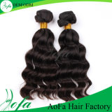 7A pura hecho a mano, el 100% de la peluca brasileña del pelo humano