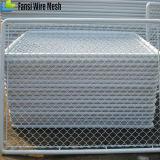 Enduit de PVC ou clôture bon marché galvanisée de maillon de chaîne