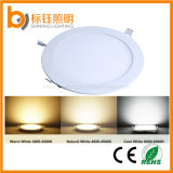 6W Ronda Slim/caliente/fría 2700-6500puro blanco k ultracompacto 85-265 VAC Panel de techo LED