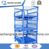 Paleta amontonable y plegable de China calificada resistente de alambre del acoplamiento para la logística