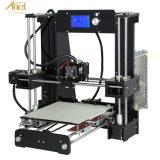 マイクロSDのカードのアクリルの版サポートABS、ヒップ、PLAの物質的な印刷が付いているアネットA6のデスクトップDIY 3Dプリンター